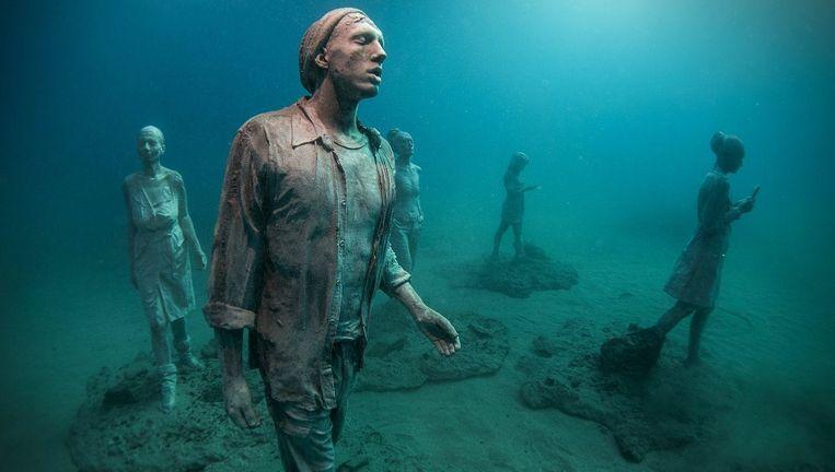 Wie het museum wil bezoeken, moet kunnen duiken of snorkelen. Beeld ANP