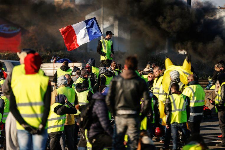 De protesten van de gele hesjes in Parijs