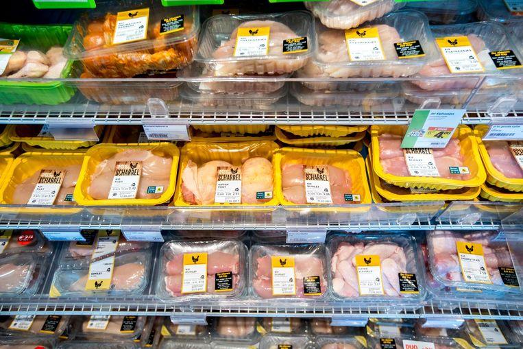 Kip in de koeling van supermarktketen Albert Heijn. Beeld ANP