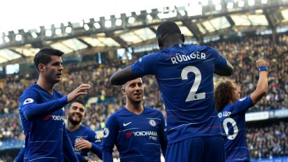 LIVE. Rusten op Stamford Bridge. Hazard en Chelsea leiden na treffer Rüdiger, Lukaku onzichtbaar