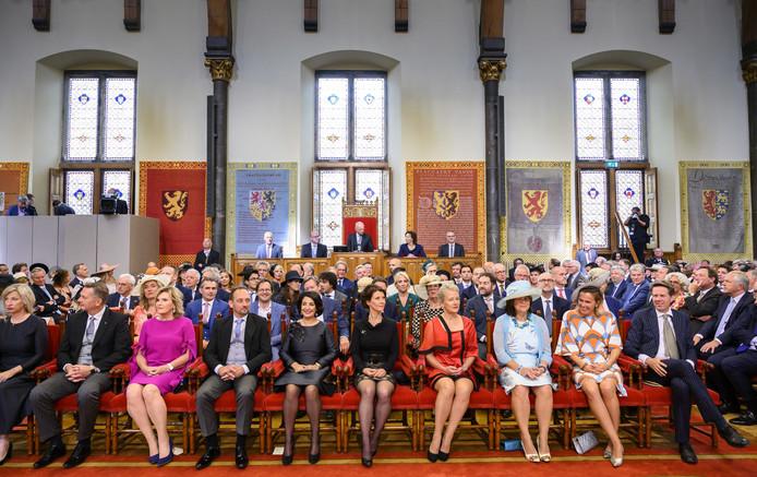 Kamerleden op Prinsjesdag in de Ridderzaal tijdens de Troonrede van koning Willem-Alexander.