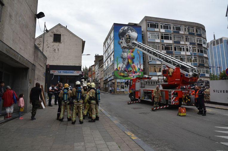 De brandweer moest uitrukken naar het Sint-Lazarusplein.