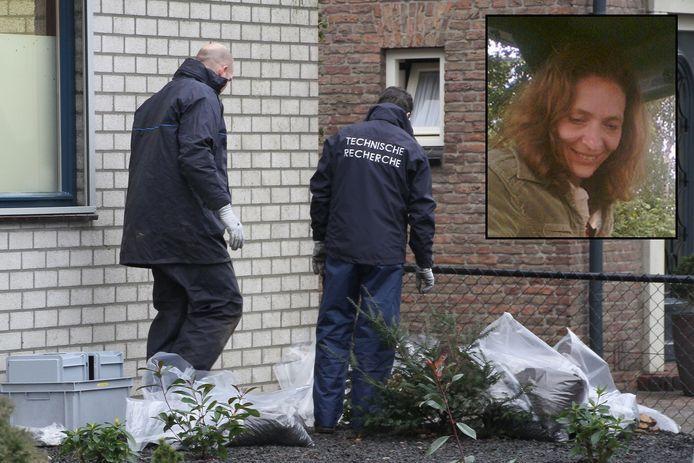 Onderzoek op de plaats in Oss waar Marja werd gevonden. Inzet: Marja Nijholt.