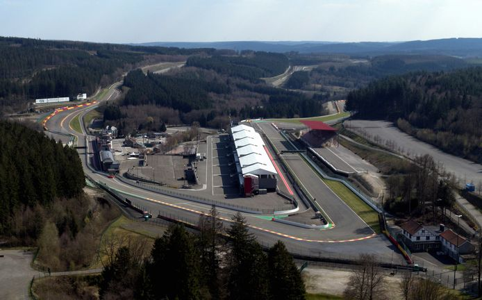 This aerial image shows  the Spa-Francorchamps Formula One track, Wednesday 08 April 2020. The track is closed due to the measures to avoid the spread of Covid-19. BELGA PHOTO ERIC LALMAND