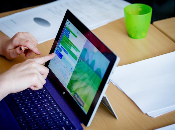 Laptops vormen op veel scholen al een belangrijk deel van de onderwijsmaterialen.
