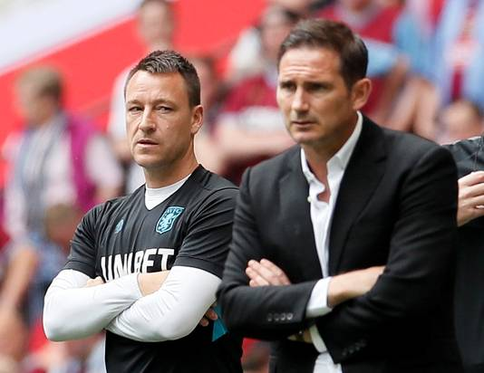 John Terry (links) en Frank Lampard.