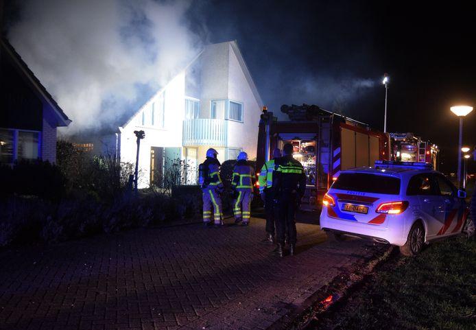 De brand aan het Hoefbladveld in Doetinchem.