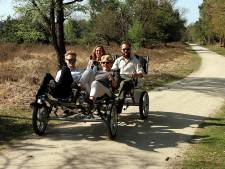 Opgeknapt fietspad boswachterij Sint Anthonis opengetrapt