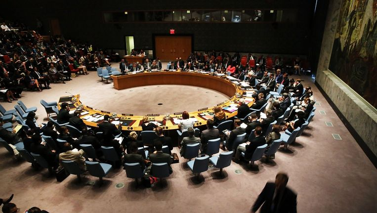 Een zitting van de Veiligheidsraad van de Verenigde Naties op 18 juli. Beeld afp