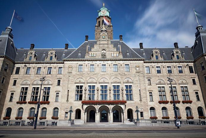 Het Rotterdamse stadhuis aan de Coolsingel.