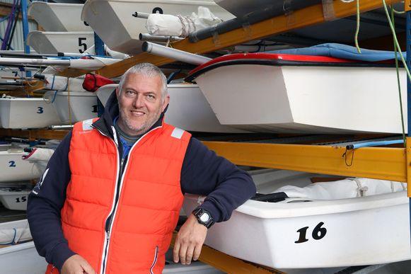 Voorzitter Jan Proost van zeilclub VVW Turnhout.