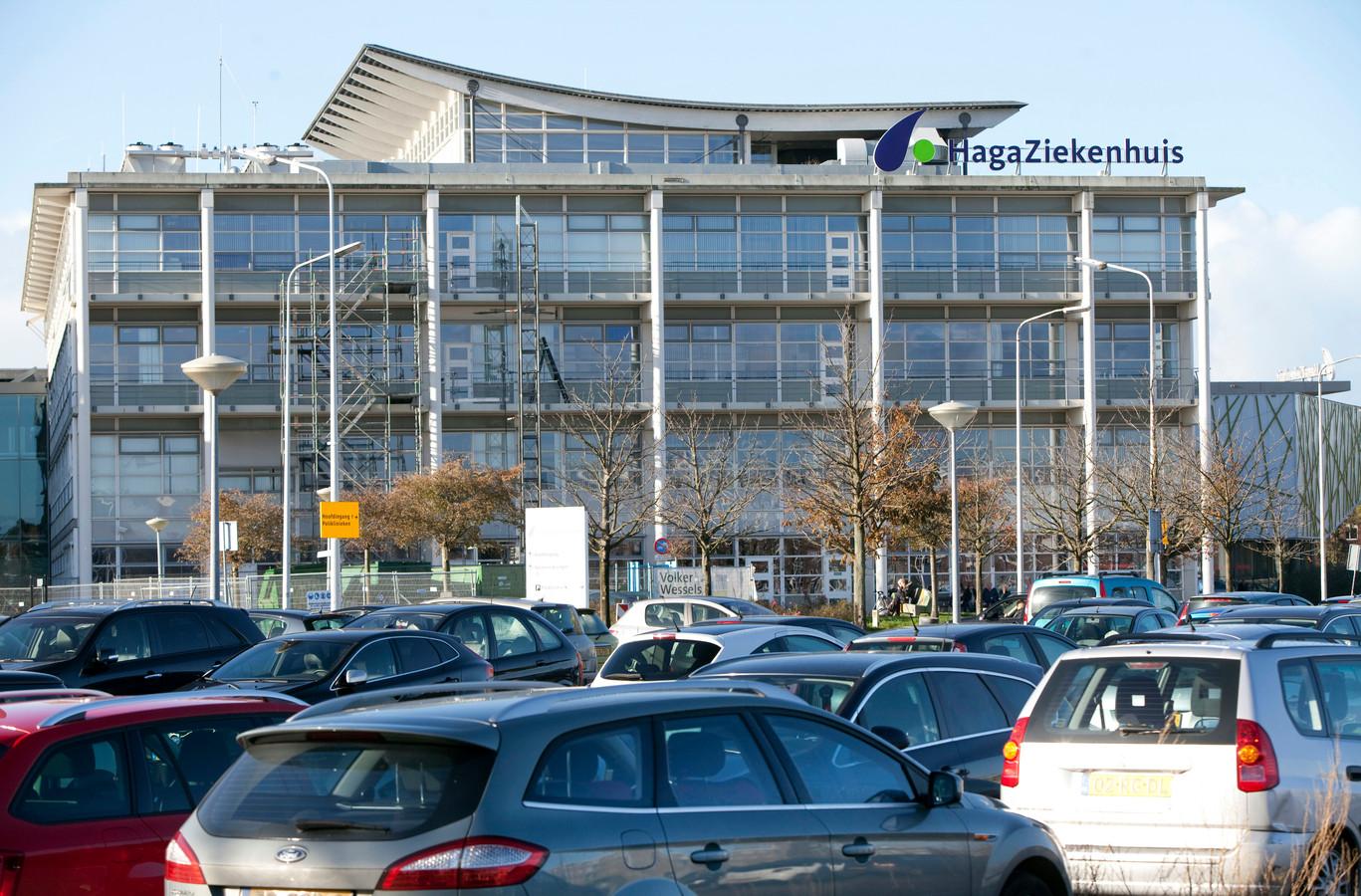 Parkeerterrein voor het Haga Ziekenhuis in Den Haag.