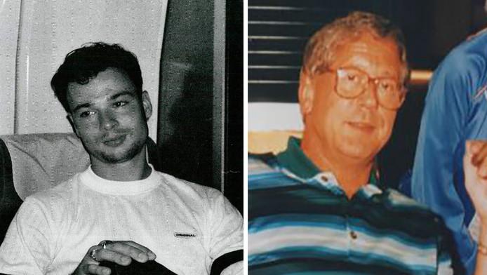 Links Maarten Redeker die in 2007 werd omgebracht, rechts de in 1994 vermoorde Pieter Hornstra