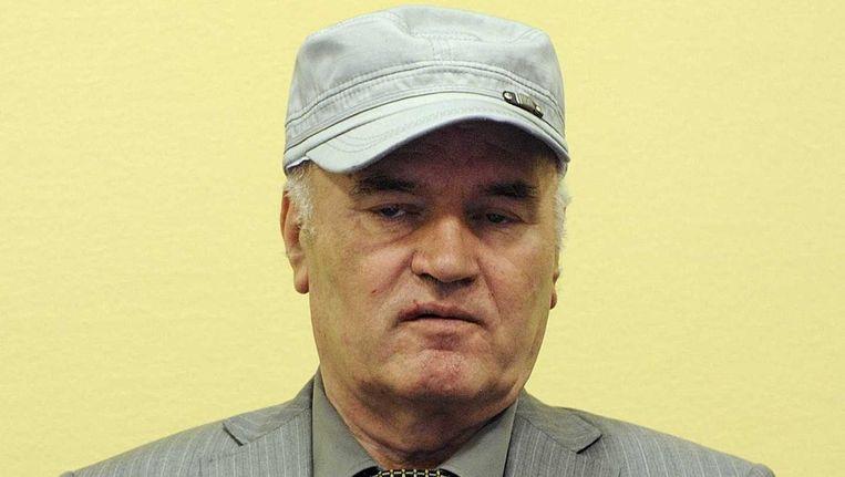 Ex-generaal Ratko Mladic begint vandaag met zijn verdediging. Beeld anp