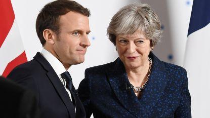 Macron en May tekenen nieuw akkoord over grenscontroles voor immigranten