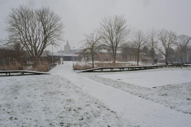 Sneeuwtapijt in het West-Vlaamse Poperinge.