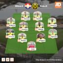 Vermoedelijke opstelling Roda JC.