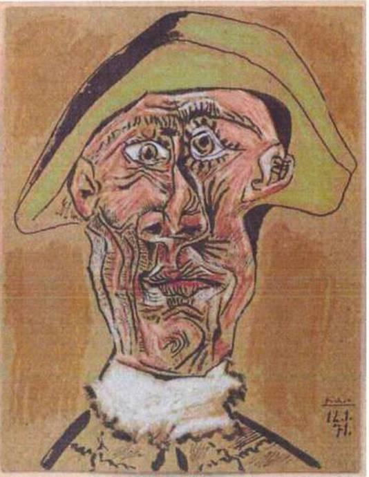 Pablo Picasso: 'Tête d'Arlequin' (1971)