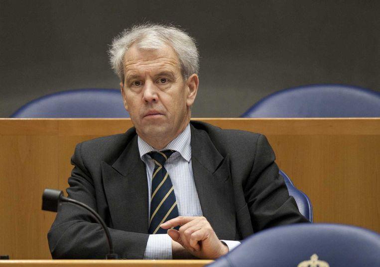 Ex-VVD-Kamerlid Johan Houwers, keert morgen terug in de Kamer als zelfstandig lid. Beeld anp