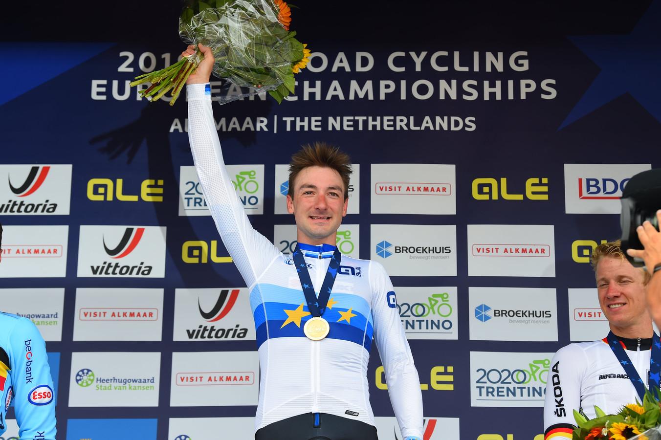 L'Italien Elia Viviani avait remporté l'épreuve en ligne du championnat d'Europe sur route en 2019 à Alkmaar.