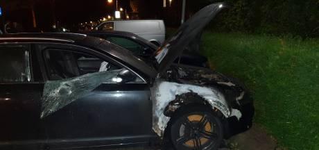 Weer autobrand in Wageningen