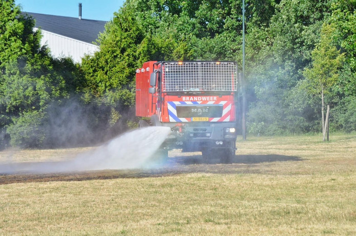 Brand bij sportpark Hoogerheide.