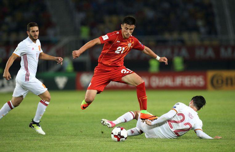 Elmas in de WK-kwalificatiematch tegen Spanje vorige maand.