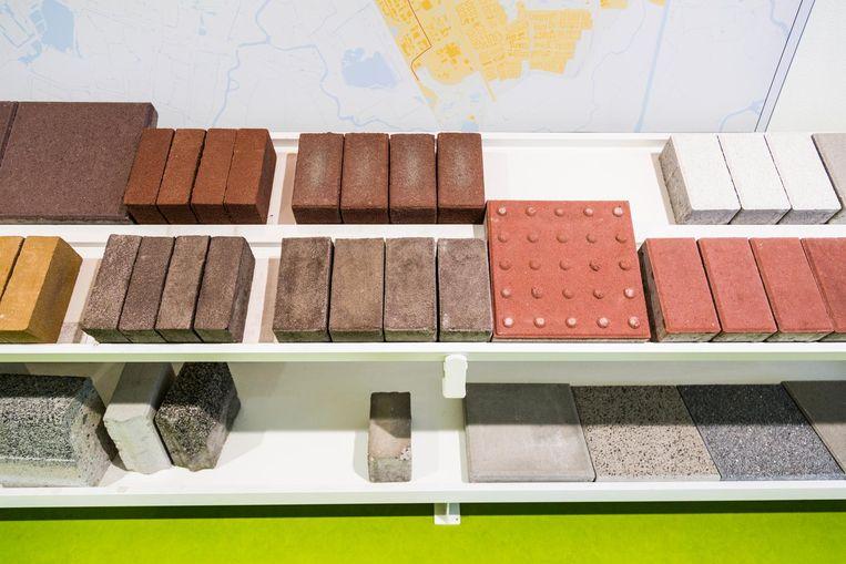 De verschillende steenvarianten waarmee Amsterdam volgens de Puccinimethode wordt betegeld Beeld Tammy van Nerum