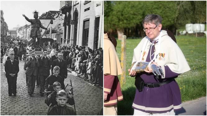 """Kasdrager Dirk schrijft boek over laatste soldatenommegang van Vlaanderen in Lembeek: """"Nu weten we weer waarom Sint-Veroonmars op Paasmaandag uitgaat"""""""