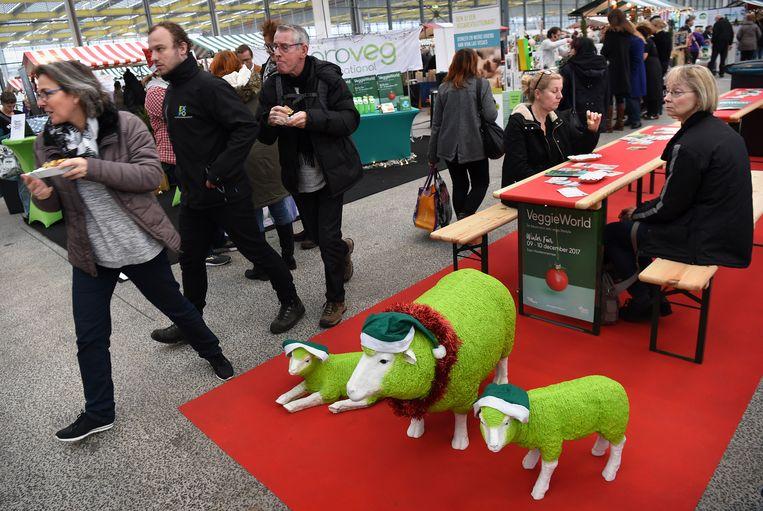 De VeggieWorld Winterfair, een groene kerstmarkt met plantaardig en duurzaam voedsel, 9 december 2017 in Vijfhuizen. Beeld Marcel van den Bergh / de Volkskrant