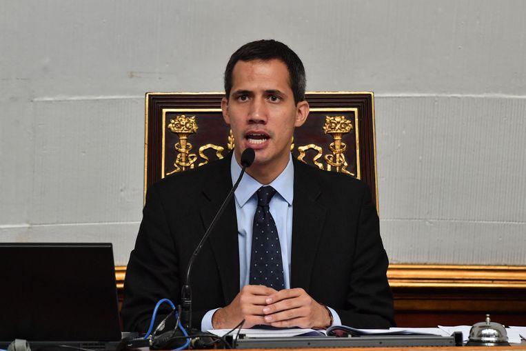 Juan Guaidó, die zichzelf tot president van Venezuela heeft uitgeroepen.