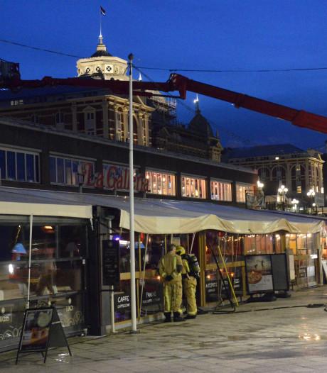 Meerdere restaurants bij winkelcentrum Scheveningen ontruimd na brand