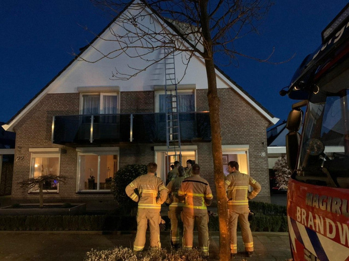 Aan de Koppelpaarden in 's-Heerenberg moest de brandweer ingrijpen.