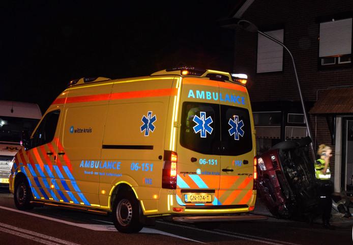 Hulpverlening na de aanrijding in Halle.