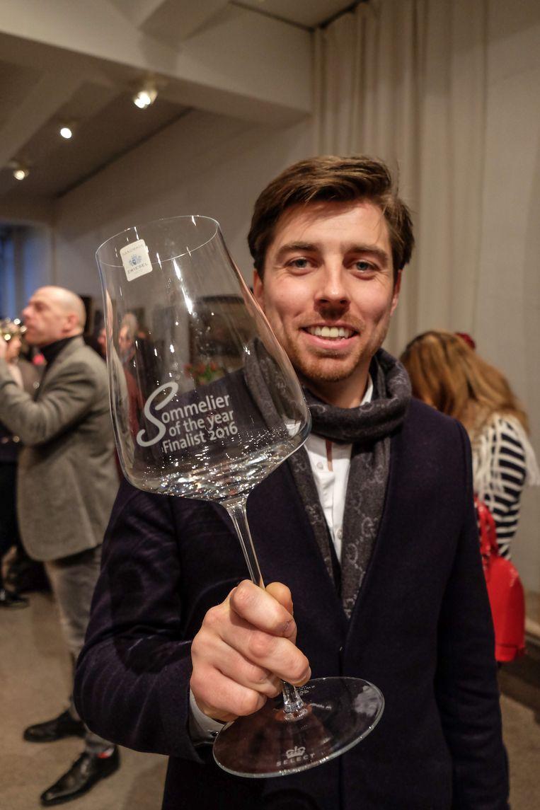 Mathieu Vanneste van Le CouCou, hier op een archieffoto toen hij als sommelier in Hof van Cleve in de prijzen viel.