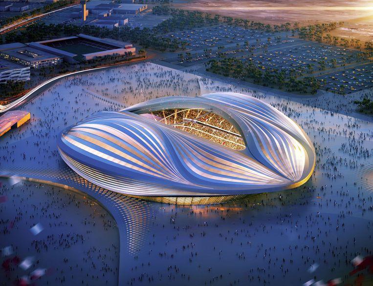 Het Al Wakrah-stadion biedt plaats aan zo'n 40.000 toeschouwers.