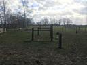 De paardenwei bij de omstreden recreatiewoning in Beemte-Broekland.