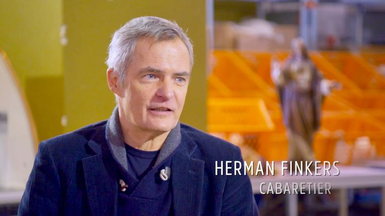 Herman Finkers in 'Adieu God'. Beeld Renate Van Der Bas