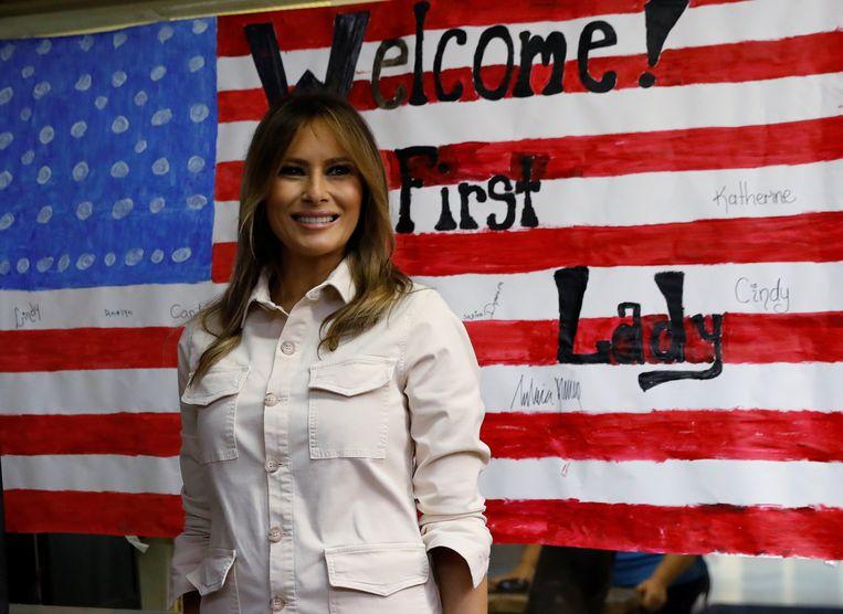 Melania Trump bij een kinderopvang in Texas Beeld Reuters