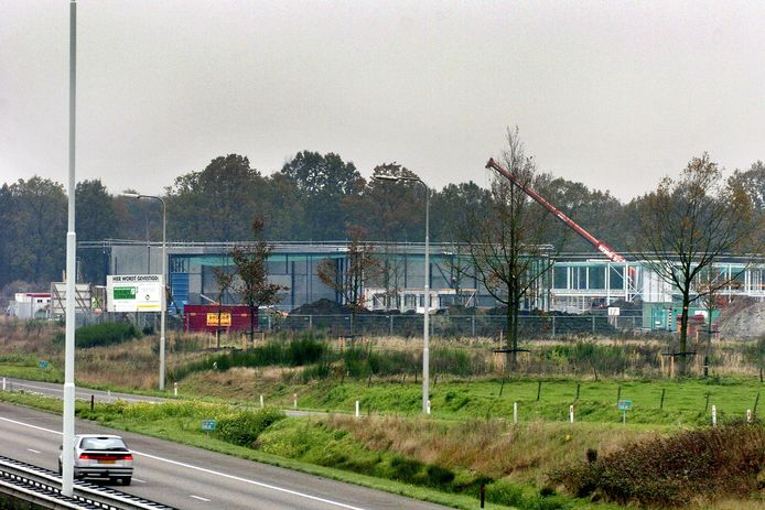 Bouwactiviteiten op bedrijventerrein De Sonman in Moergestel (2014)