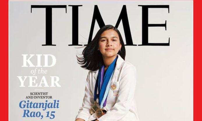 Gitanjali Rao siert de cover van Time magazine als allereerste 'kind van het jaar'.