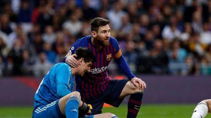 """""""Messi is een speler zoals een andere"""", zegt Courtois, waarna ze bij Barcelona wel erg fijntjes terugprikken"""