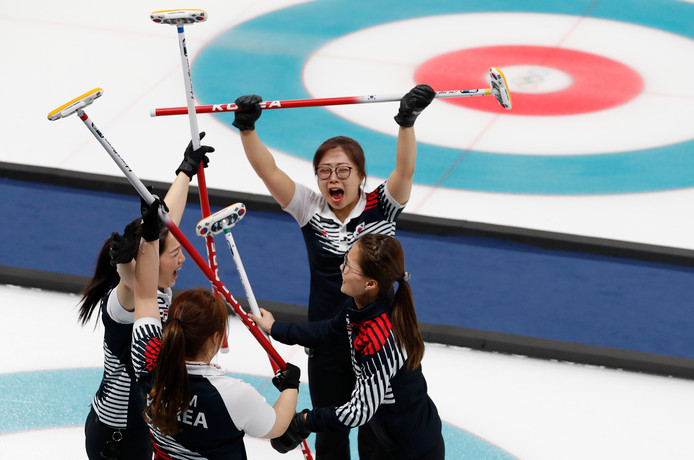 De Zuid-Koreaanse curlsters.