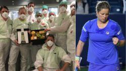 """Ziekenhuis Sint-Truiden krijgt attentie van Kim Clijsters: """"We houden ons sterk en fit dankzij de vitamientjes van Kim"""""""