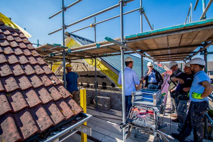 Open huis bouw woningen Rubensstraat Fijnaart