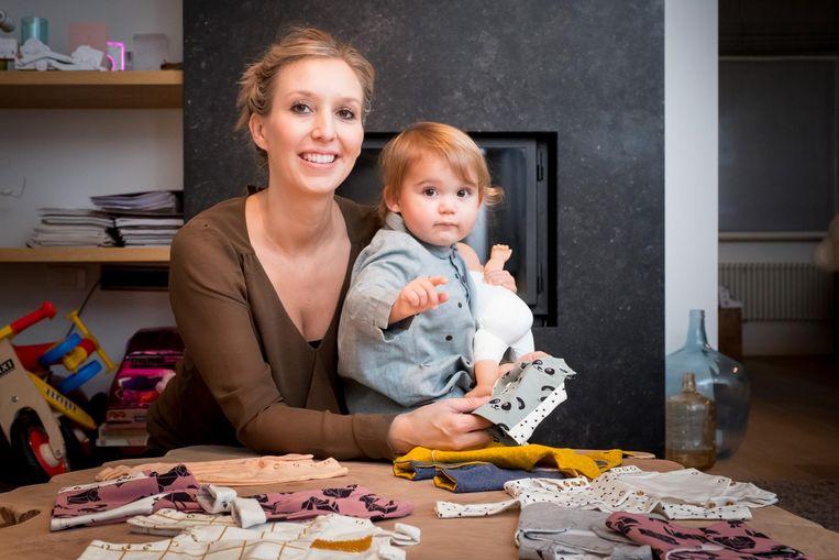 Kajsa Leyman liet zich voor haar kledinglijn voor premature baby's inspireren door haar dochtertje Lou.