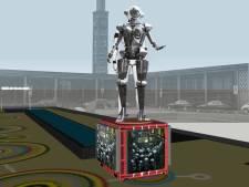 Robotbeeld Metropolis in Enschede krijgt vaste plek op Stationsplein