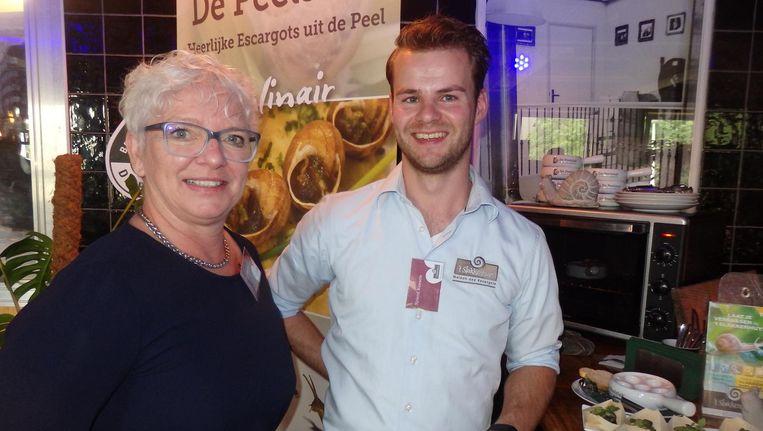 Organisator Ria Joosten en Sjoerd Kessels ('t Slakkenhuys):