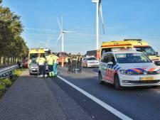 A58 weer vrij na ongeval; motorrijder zwaargewond naar het ziekenhuis