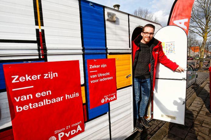 PvdA-lijsttrekker Rick van der Zweth.